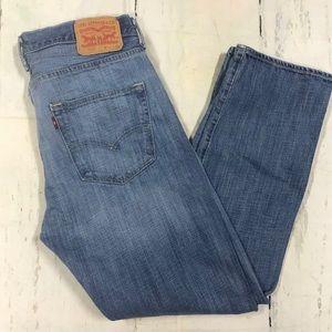 Men's Levi 501 blue jeans button fly 32x30
